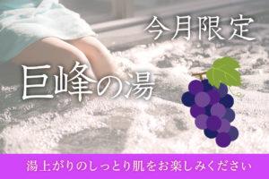 【10月限定】巨峰の湯